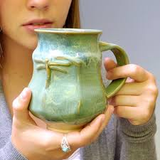 handmade ceramic pottery coffee mug tea mug or beer stein