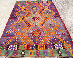 Bright Colored Area Rugs View Lg Kilim Rugs 6x9 9x12 By Pocovintage On Etsy