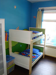 Ikea White Bunk Bed Exquisite Blue Boy Bedroom Decoration Using Kid Wooden Ikea White
