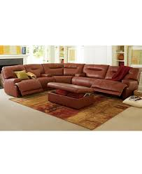 Reclining Sofa Chair by Ricardo Leather Sectional Living Room Furniture Collection Power