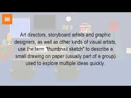 what is the definition of a thumbnail sketch youtube
