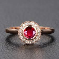 halo rings red images Limited time sale 1 25 carat antique design vintage red ruby jpg