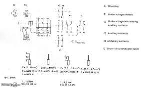 single phase shunt trip breaker wiring diagram shunt trip relay