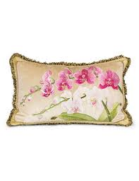 strongwater pillows strongwater orchid 16 x 26 pillow flora jewelers gifts
