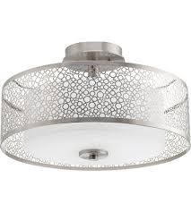 Semi Flush Ceiling Lights Progress P3565 09 Mingle 2 Light 16 Inch Brushed Nickel Semi Flush