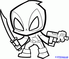 cartoon coloring pages deadpool cartoon coloring page colowing pinterest deadpool