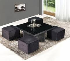 Pouf Coffee Table Table Pouffe Lugano Square Coffee Table With 4 Poufs The