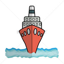 free cruise ship front view vector image 1316554 stockunlimited