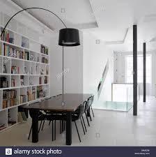 dining room in loft apartment islington london uk stock photo