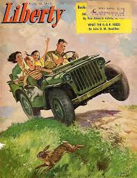 jeep liberty cartoon jeep liberty magazine cover 1945 jeep willys pinterest jeep