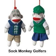sock monkey company sock monkey golfer ornaments