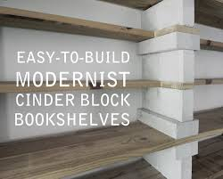 cinder block bookshelves that actually look good youtube