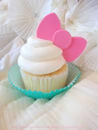 moño kitty para cupcakes cupcaketopper tortas pinterest