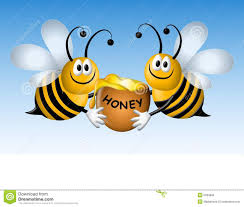 busy cartoon bees with honey royalty free stock image image 5284606