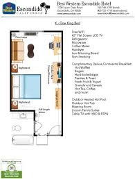 best floorplans guestroom floorplans of best western escondido hotel