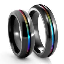 black metal rings images Edward mirell matching rainbow inlay rings 6mm png