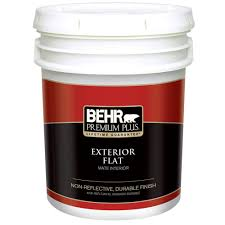behr premium plus 5 gal ultra pure white flat exterior paint