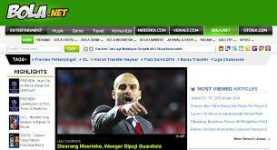 Bola Net Ikuti Perkembangan Sepak Bola Di 5 Website Indonesia Ini