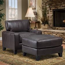 Chairs With Ottomans For Living Room Furniture Livingroom With Black Leather Chair Plus Ottoman Placed