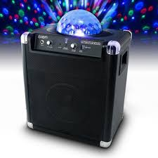 ion portable speaker system with party lights ion party power ipa19c bluetooth portable speaker system w party