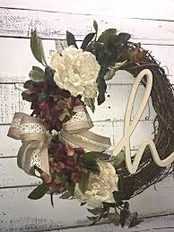 fall wreath hydrangeas wreath burlap peonies fall door wreath
