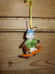 Ornament Rabbit With Skateboard