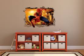 spiderman wall stickers hole in the wall 3d decorative sticker to spiderman wall stickers hole in the wall 3d decorative sticker to the room 64