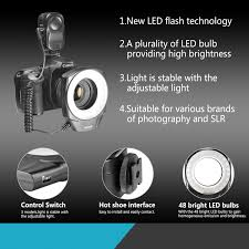 neewer macro ring led light amazon com neewer 48 led ring light for macro canon nikon sigma