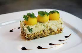 recette cuisine gastronomique recette d entrée crabe fondant citronné coriandre mangue et