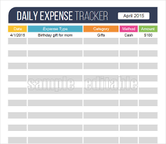 Expense Tracker Template For Excel 18 Expense Tracking Templates Free Sle Exle Format