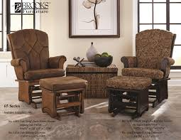 furnitures chocolate glider chocolate glider and ottoman