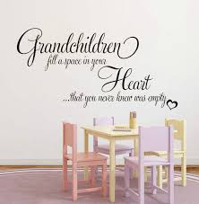 Heart Wall Stickers For Bedrooms Wall Vinyl Decal Quotes Grandchildren Fill Empty Heart Wall