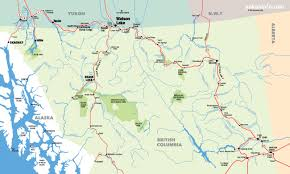 map of bc southern yukon northern columbia map