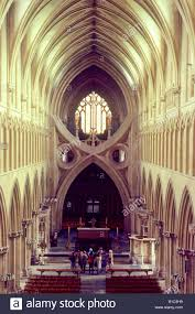 Arcaid Images Stock Photography Architecture by Wells Cathedral Interior Nave And Crossing From West English