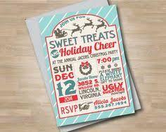 diy vintage christmas party invitation customizable 30 00 via