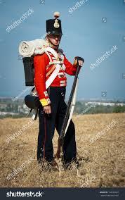 British Soldier Halloween Costume Crimea Ukraine September 29 Historical Costume Stock Photo