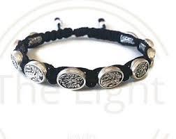 battle saints bracelets michael medal etsy