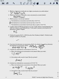 Ph Worksheet Greys Chem Hw Calculating Ph Worksheet