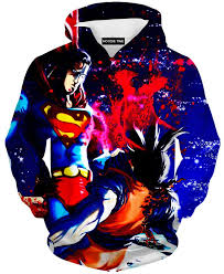 superman vs goku hoodie dragon ball z hoodies dbz full printed