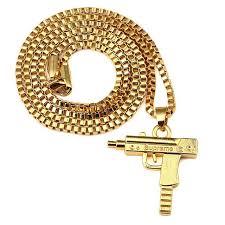 necklace aliexpress images Pistol gun supreme necklace gold filled men hip hop charm franco jpg