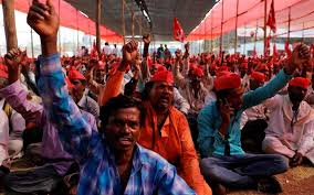 Seeking In Mumbai Thousands Of Farmers March To Mumbai Seeking Government Support