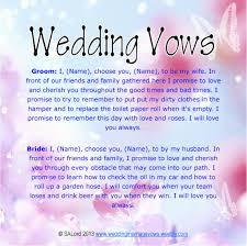 Wedding Quotes Examples Unique Wedding Vows Funny Wedding Marriage Vows Silly Sample