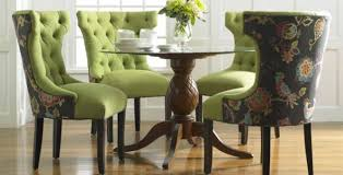 green floral upholstered dining room chairs comfortable
