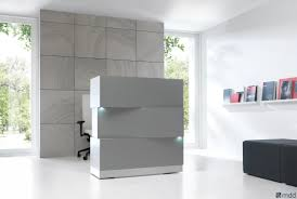 Buy Reception Desk by Zen Reception Desk Grey Buy Online At Best Price Sohomod