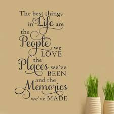 Bedroom Sayings Wall Best Things People Places Memories Vinyl Quotes Wall Decal