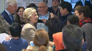 watch hillary clinton arrive to cast her vote in chappaqua ny