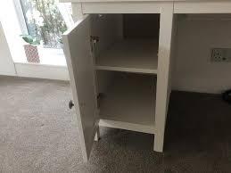 ikea hemnes computer desk white stain in northampton