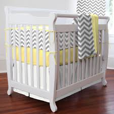 Grey And Yellow Crib Bedding Gray And Yellow Zig Zag Mini Crib Bedding Grey Yellow Crib