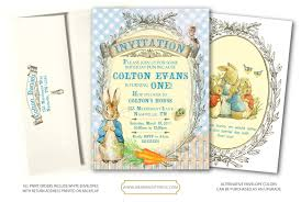 peter rabbit birthday invitation peter rabbit invite first