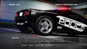 police mclaren need for speed pursuit mclaren f1 police interceptor info